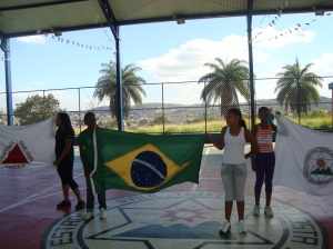 Hino nacional Brasileiro Projeto malhando na escola alunas Ratecos entre Elas Varla Severiano