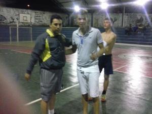 Estagiário de Educação Física Vinicius e Daniel Goleiro da Equipe 1008