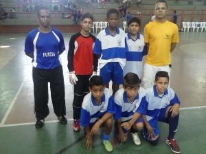 FUTCIA Sub-13- Em pé da esquerda para direita- João, Luca Charles, Wemerson, Matheus, Nino, Leonardo Marques, Vitor, Gabriel