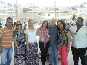 Com Vânia Reis, Sara, Aniete, Fausto, Rosi e Professor Cleiton