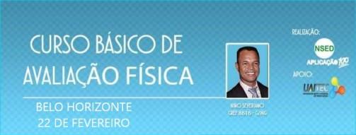 CURSO DE AVALIAÇÃO FÍSICA BÁSICA BANNER BH